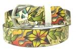 Tan Death Or Glory Leather Belt