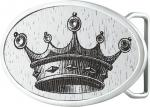 Gilded White Crown Belt Buckle