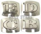 Chrome Letter Belt Buckle