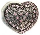 Pink Rhinestone Heart Belt Buckle