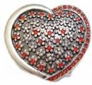 Red Rhinestone Heart Belt Buckle