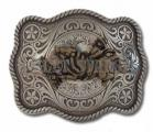 Western Rodeo Bull Rider Belt Buckle